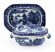 SMALL TUREEN WITH A LONG PLATE