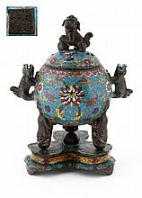 ORIENTAL PERFUME BOTTLE WITH A BASE