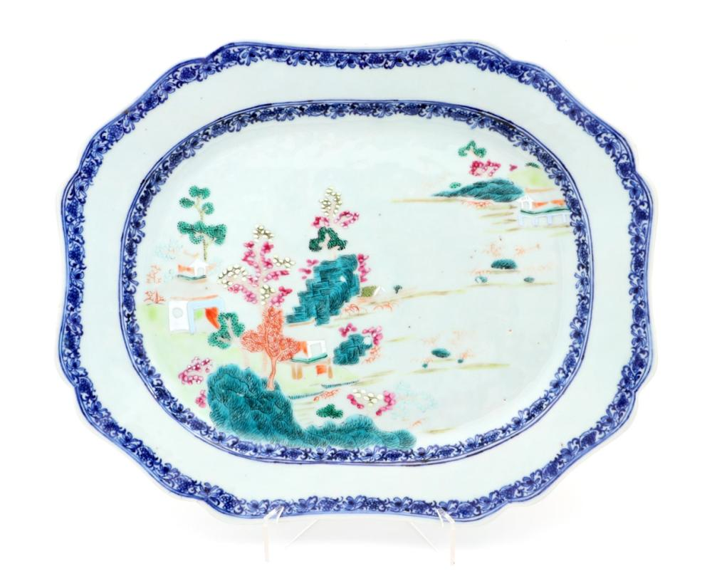 A LARGE SCALLOPED PLATTER