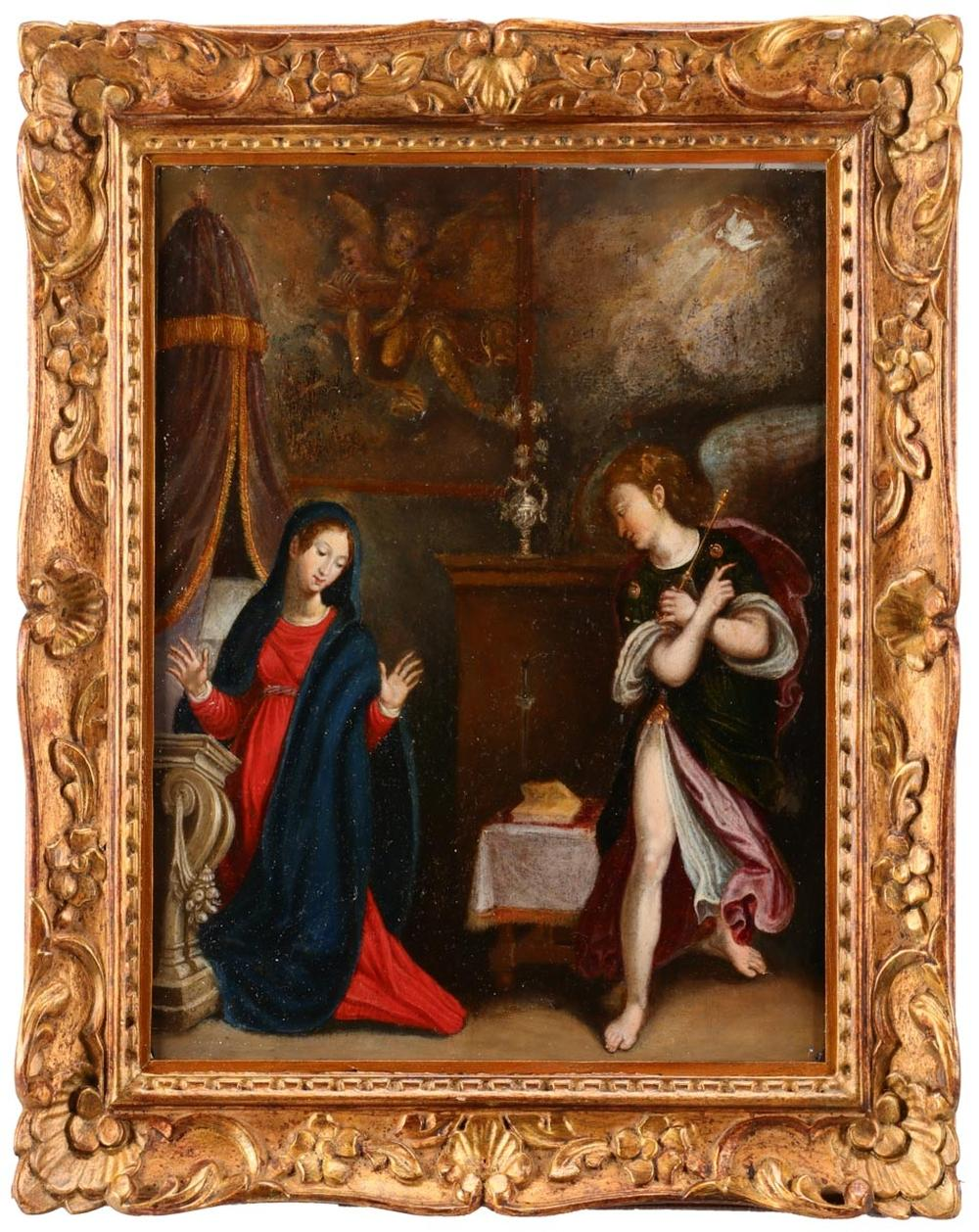FLEMISH SCHOOL (ATTRIBUTABLE TO THE 17TH CENTURY), ANUNCIATION