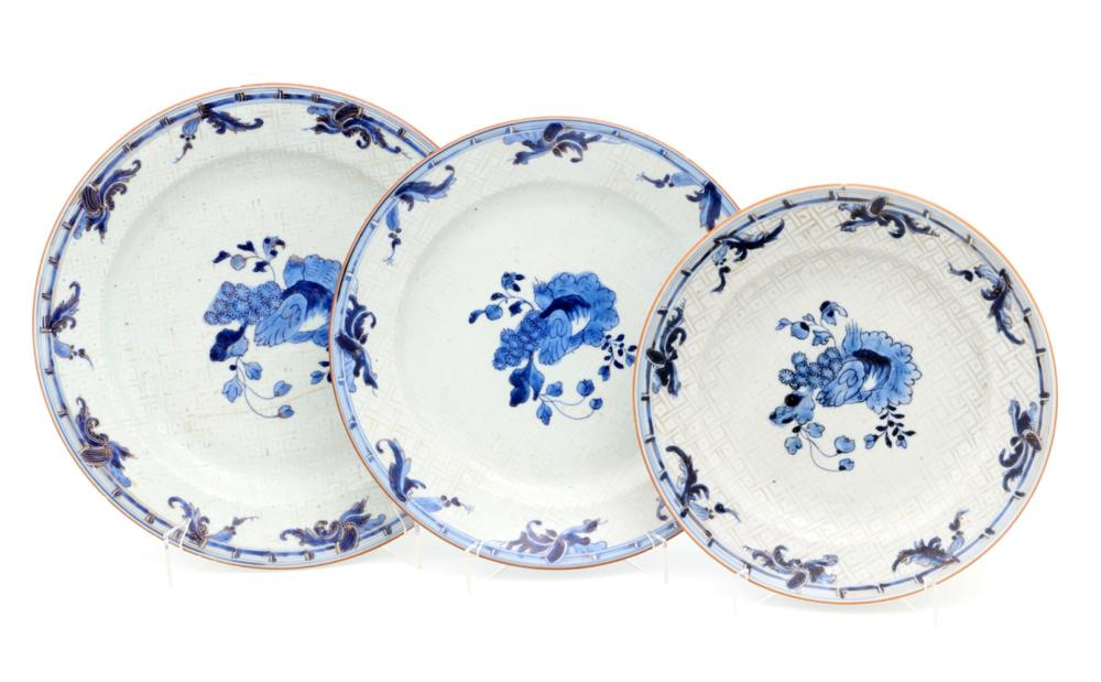 A SET OF THREE DIFFERENT SIZE PLATES