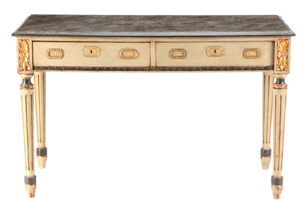 A LOUIS XVI STYLE SIDE TABLE