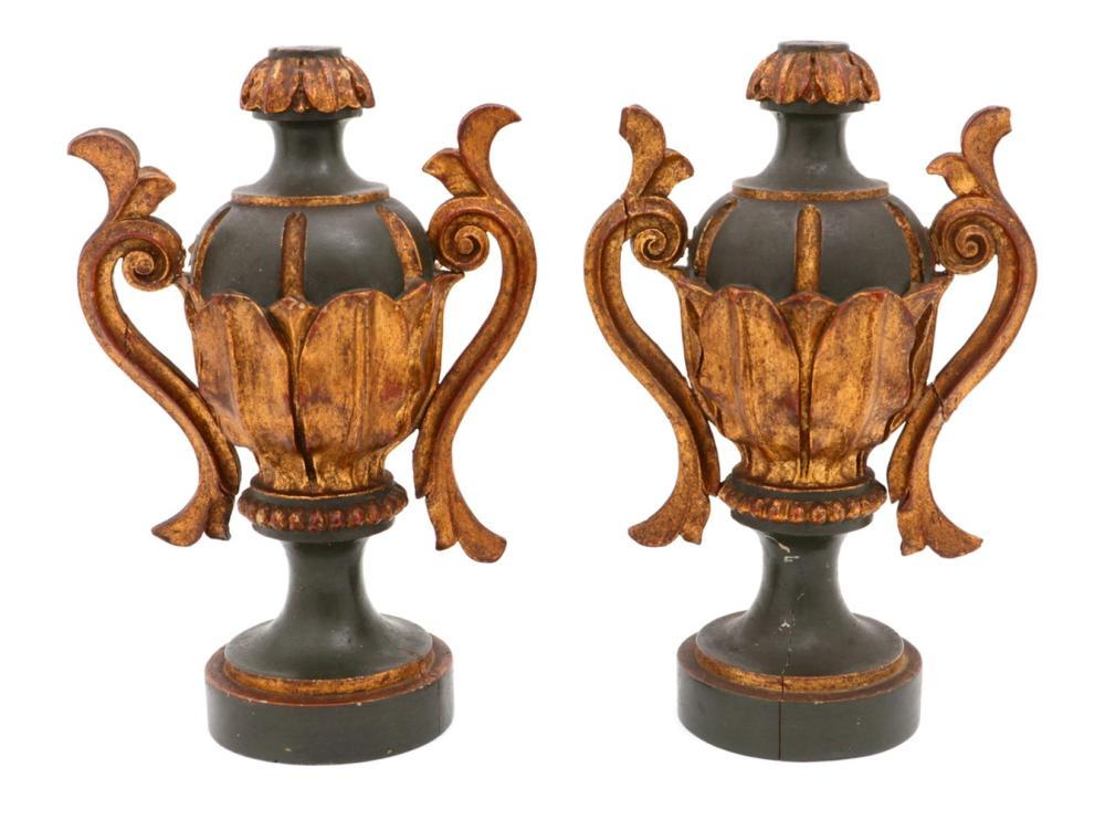 A PAIR OF D. MARIA STYLE URNS