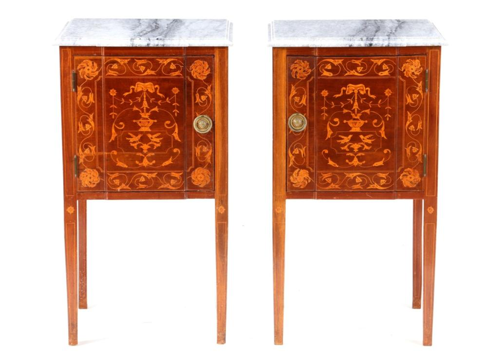 A PAIR OF D. MARIA STYLE BEDSIDE TABLES