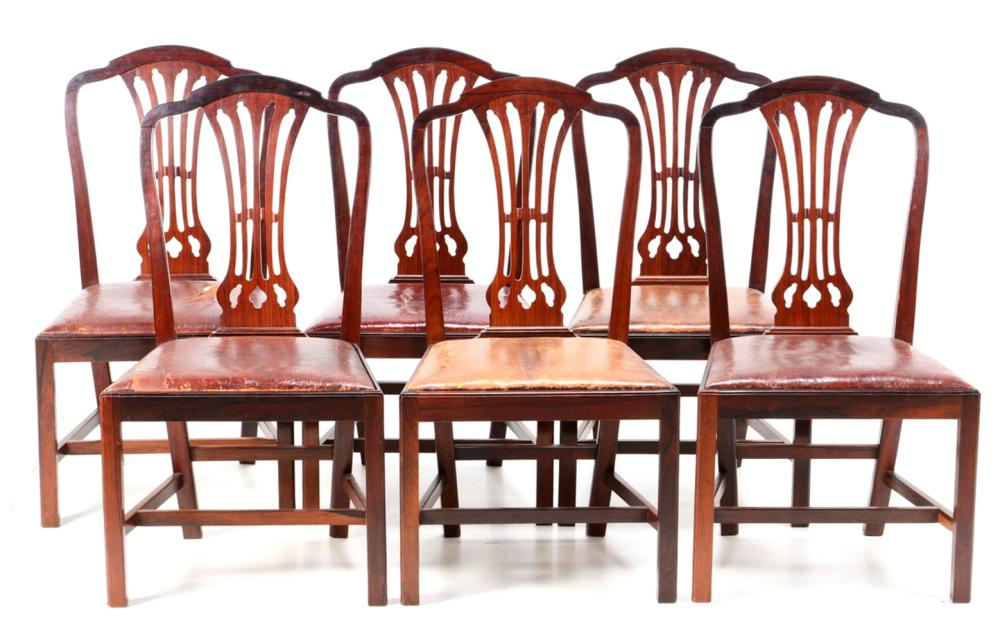 "A SET OF SIX CHAIRS - ""POMBALINAS"""
