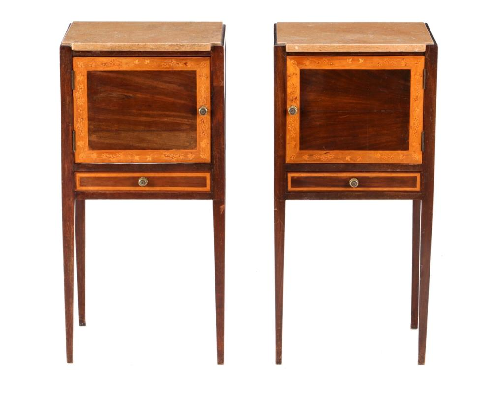 A PAIR OF D. MARIA (1777-1816) BEDSIDE TABLES