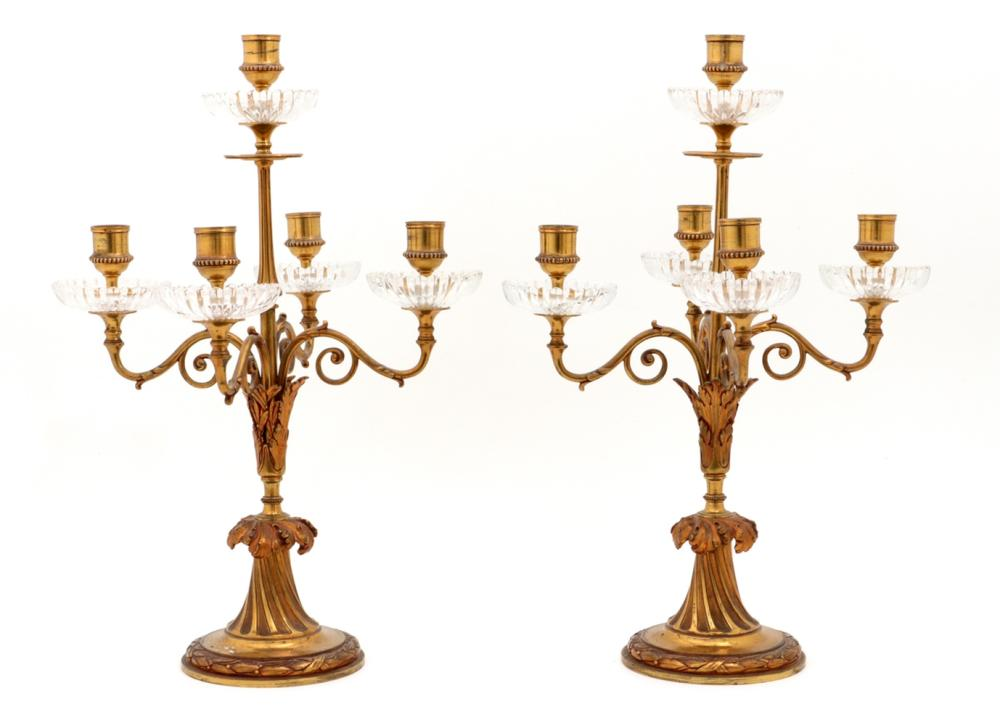 A PAIR OF CHANDELIERS