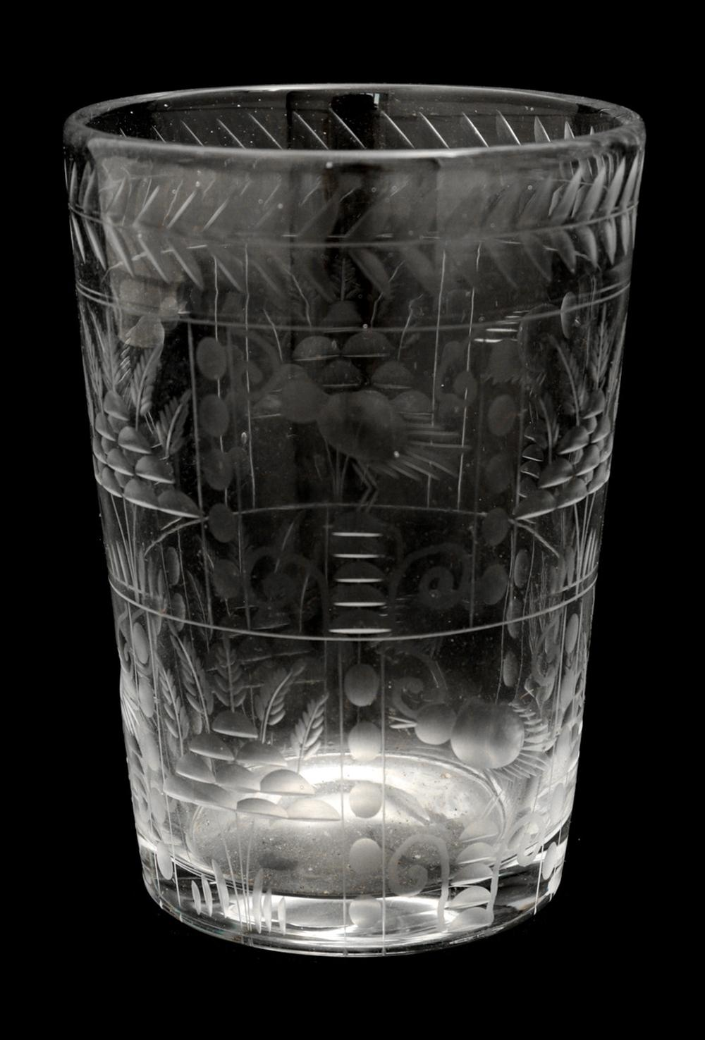A LARGE GLASS