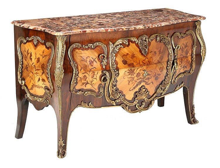 COMMODE, LOUIS XV STYLE