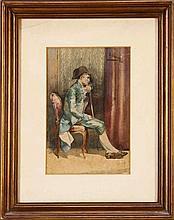 ENRIQUE CASANOVA (1850-1913), CENA DE INTERIOR (INSIDE SCENE)