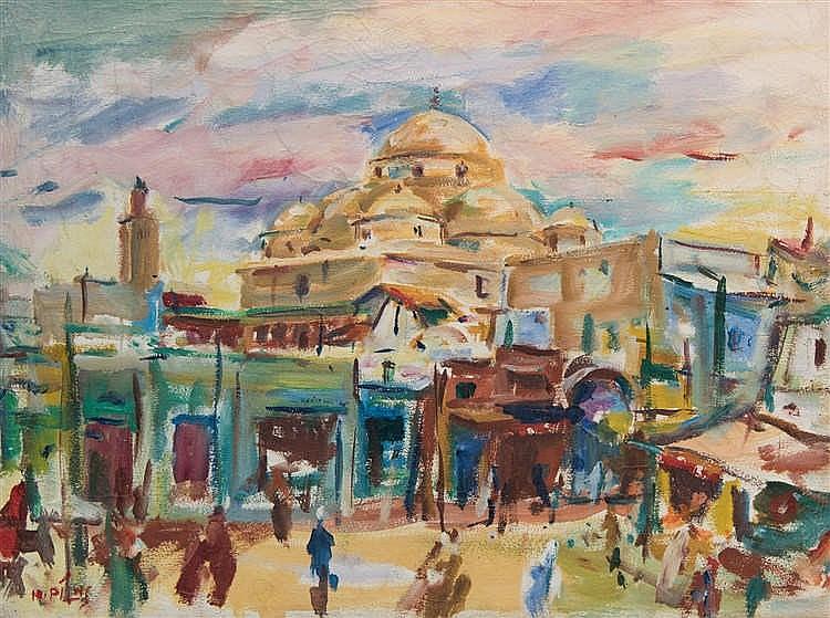 Hans Pilhs, Markt in Tunis