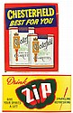Advertising signs (2), Chesterfield Cigarettes &