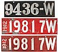 License plates (3), Wisconsin, pr 1912