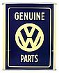 Automotive, Volkswagen light-up sign, plastic &