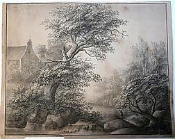 Gräfin Julie von Egloffstein, Waldlandschaft mit Kirche