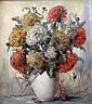 Helmut Andreas Volkwein, Bunter Chrysanthemenstrauss, Helmuth Andreas Volkwein, Click for value