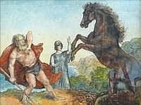 Peter Trumm, Dionysos und Athena als