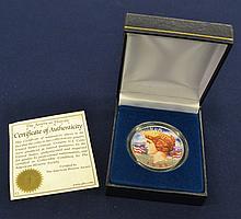 1922 Color Enhanced Peace Silver Dollar