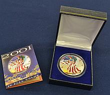 2001 1 oz. US Silver Eagle Color Enhanced