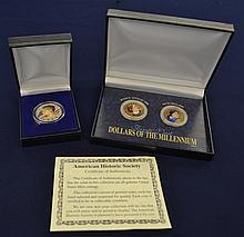 2pc Color Enhanced US Coins