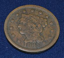 1848 US Braided Hair Large Cent