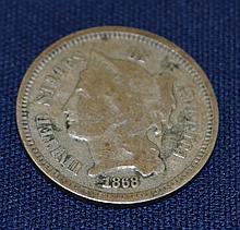 1868 Nickel 3 Cent