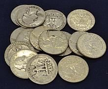 $4.00 Face Value Silver US Washington Quarters