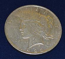 1922 US Peace Silver Dollar