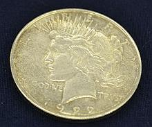 1922-s US Peace Silver Dollar