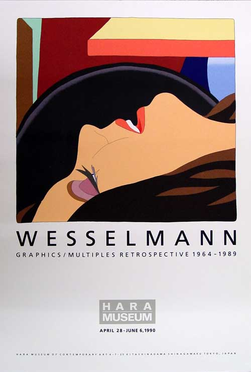 Tom Wesselmann for Hara museum Tokyo. 1990