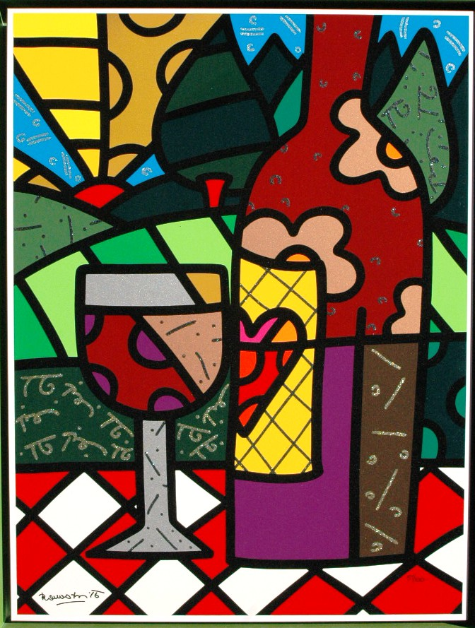 Romero Britto. Red Wine.