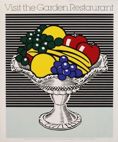 Roy Lichtenstein. Visit the Garden Restaurant.