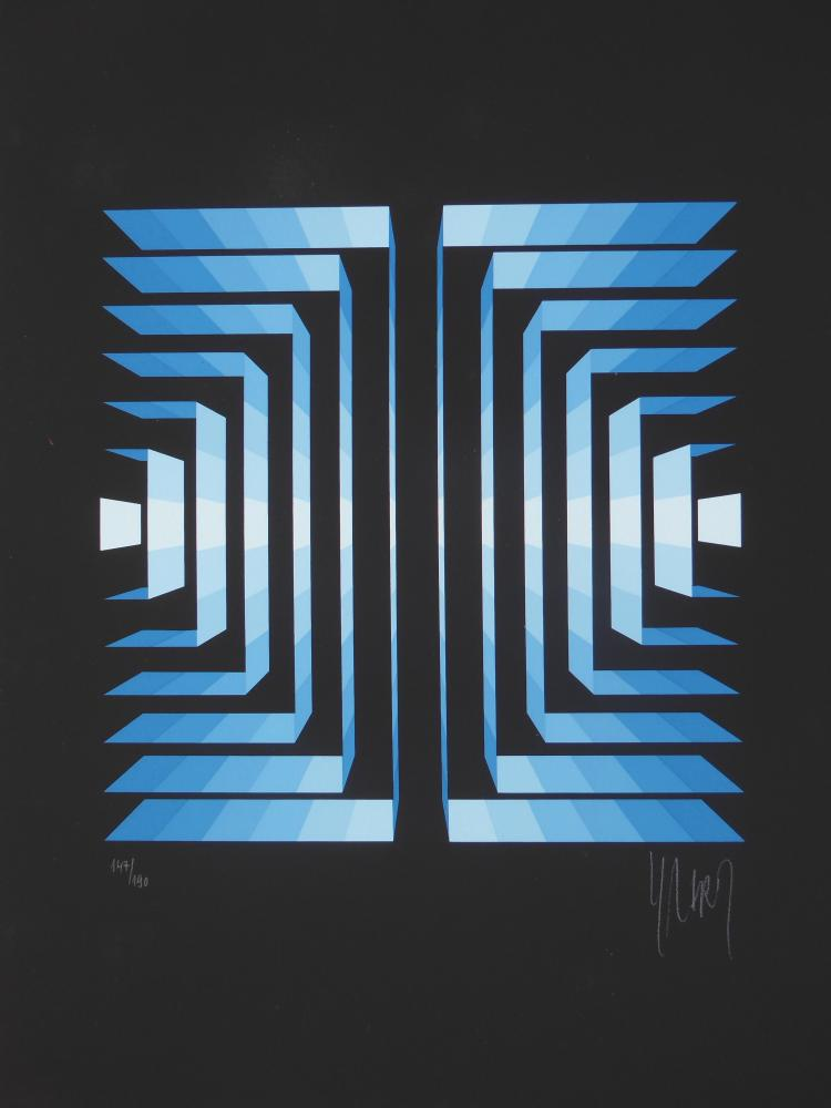 Yvaral (Jean-Piere Vasarely) Rayonette Bleu