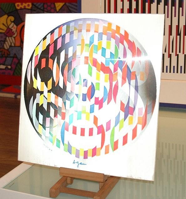 Yaakov Agam. Swirling Rainbow
