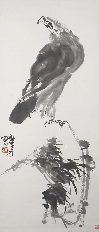 XU LINLU (B. 1916) EAGLE AND PINE