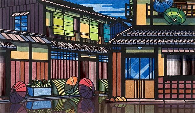 CLIFTON KARHU (1927-2007)GION REFLECTIONS