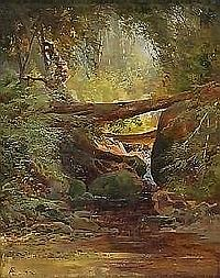 allan aaron edson rca, osa MOUNTAIN STREAM. Oil on canvas on panel, signed with monogramme and dated 72. 25.3 x 20.2 cm. (10 x 8 in.). Provenance: The Estate of Elizabeth Collard, Ottawa. Illustrated