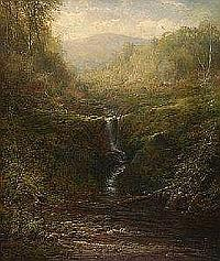 Canadian Art AARON ALLAN EDSON (1846-1888) SOLITUDE signed; remains of signature and title on label on remains of original stretcher on the reverse oil on canvas 90 by 76.2 cm. 35.5 by 30 in. PROVENANCE: The Estate of John Laurel Russell, Gananoque