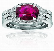Ruby Ring with fitted jacket