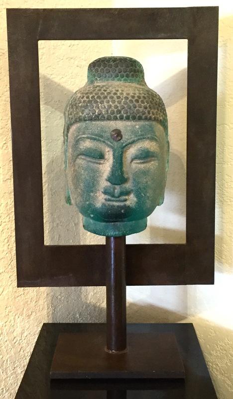 Aqua Buddha in Frame