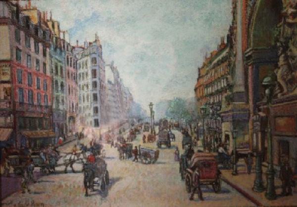 Fiacres et Charrette a Bras Boulevard Saint Denis