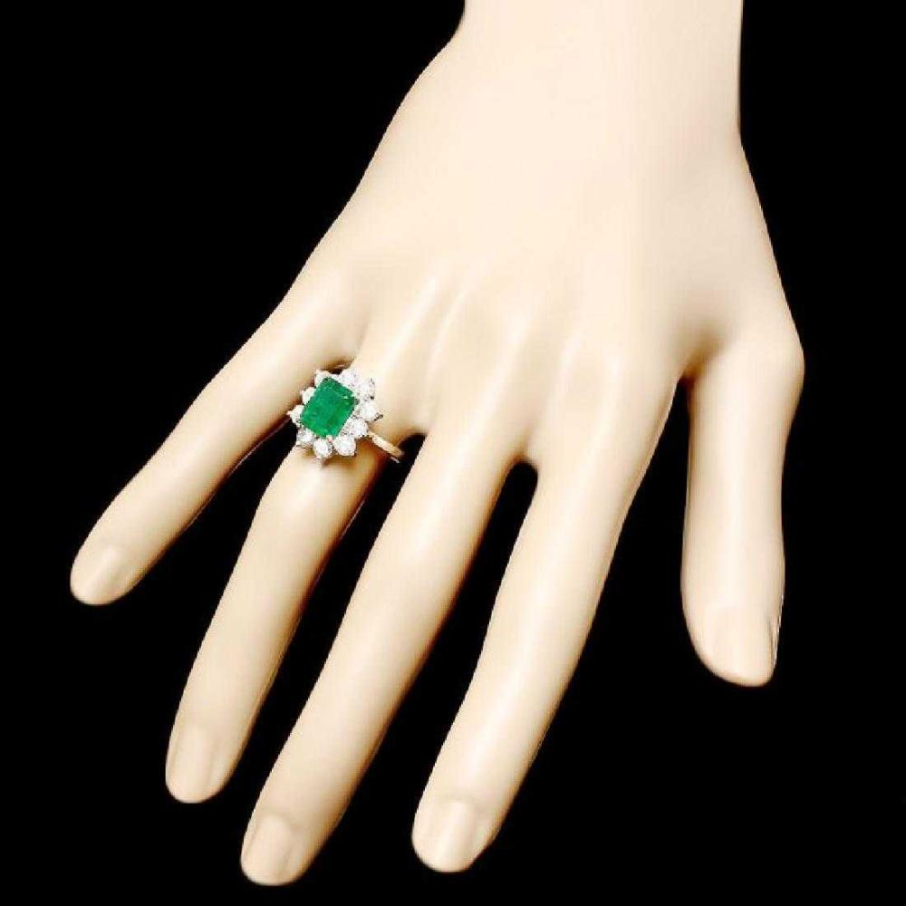 14k white gold emerald and diamond ring. Black Bedroom Furniture Sets. Home Design Ideas