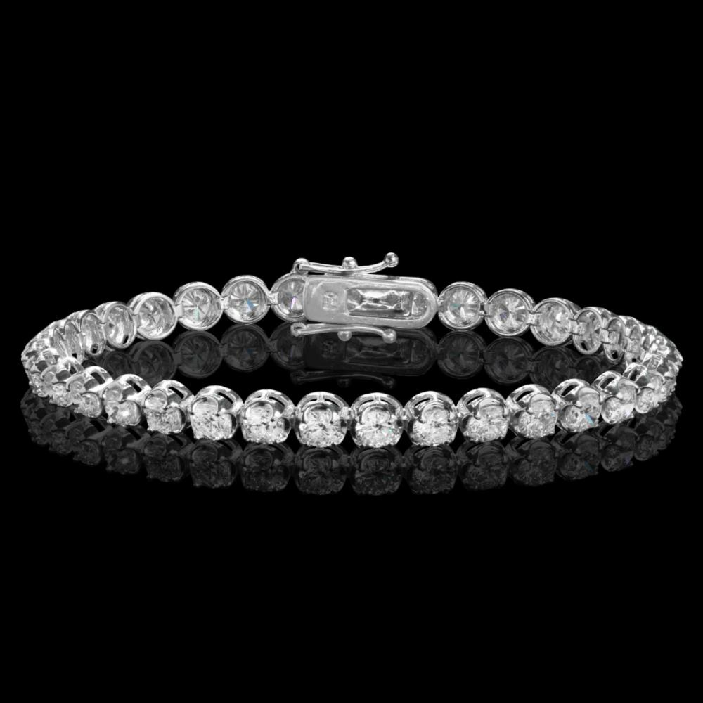 18k White Gold 8.22ct Diamond Bracelet