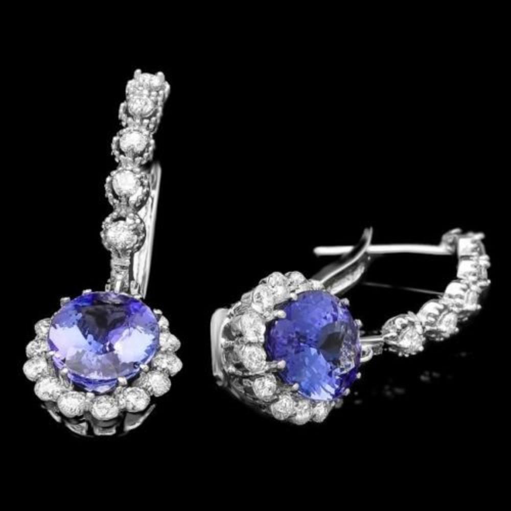 14k Gold 4.52ct Tanzanite 1.26ct Diamond Earrings