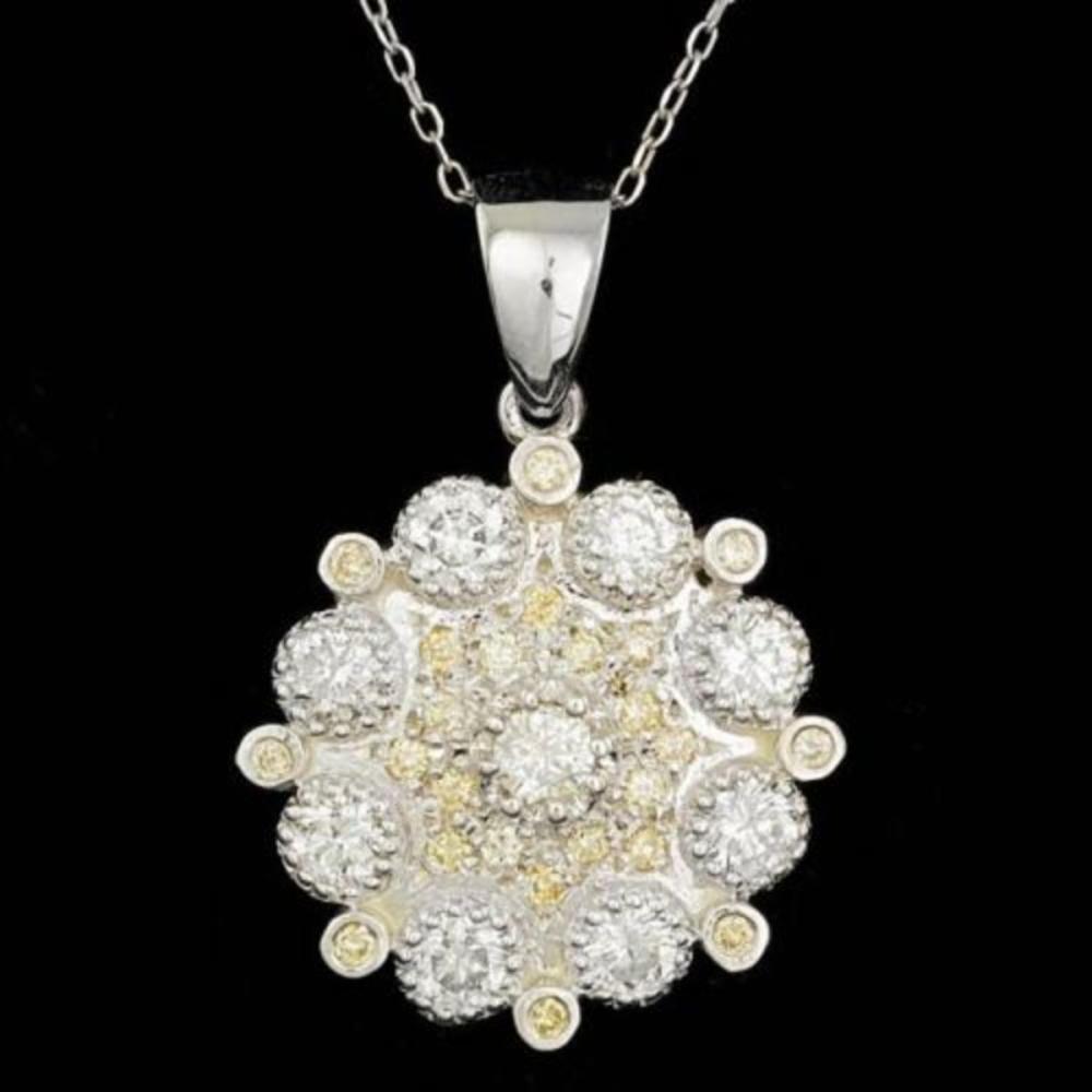 14K Gold 2.07ct Diamond Pendant