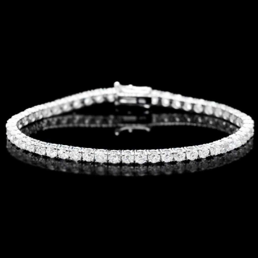 18K White Gold 7.42ct Diamond Bracelet