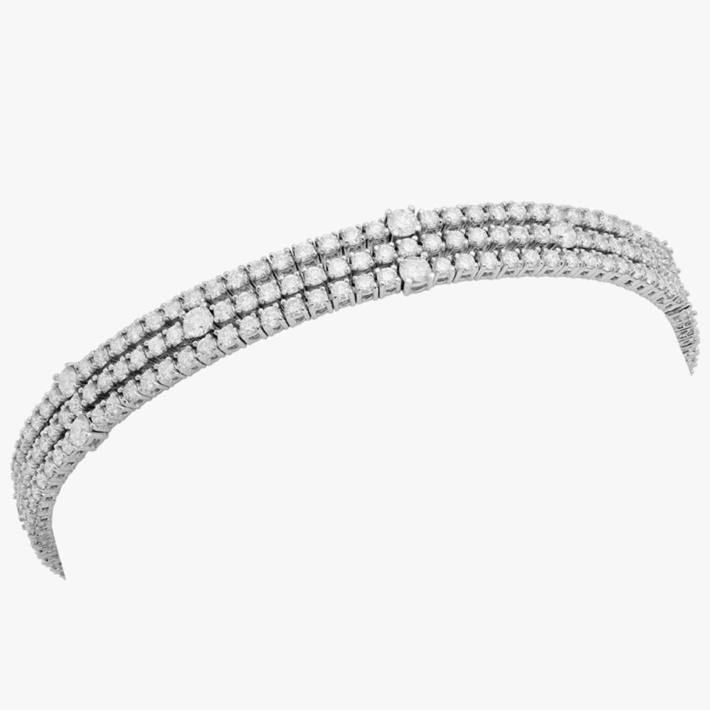 18k White Gold 5.96ct Diamond Tennis Bracelet