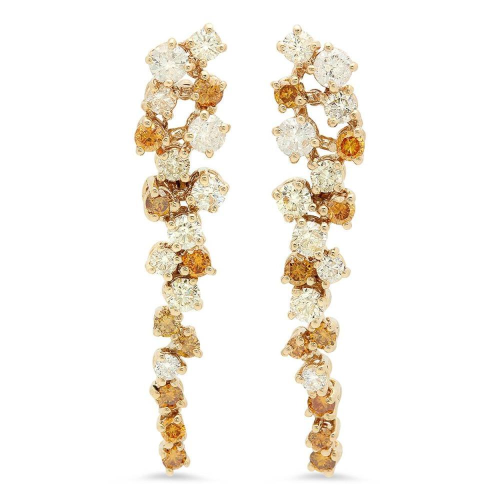 14K Gold 0.78cts Diamond Earrings