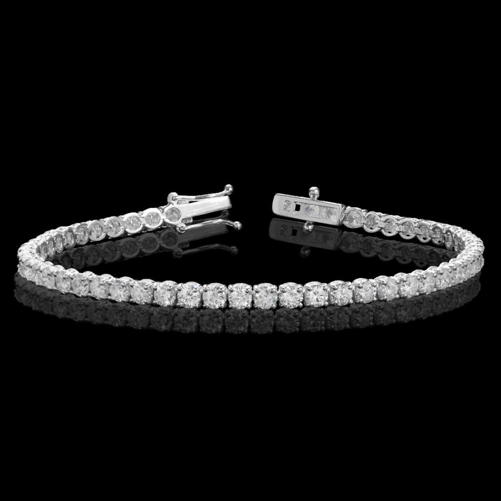 18k White Gold 6.71ct Diamond Bracelet