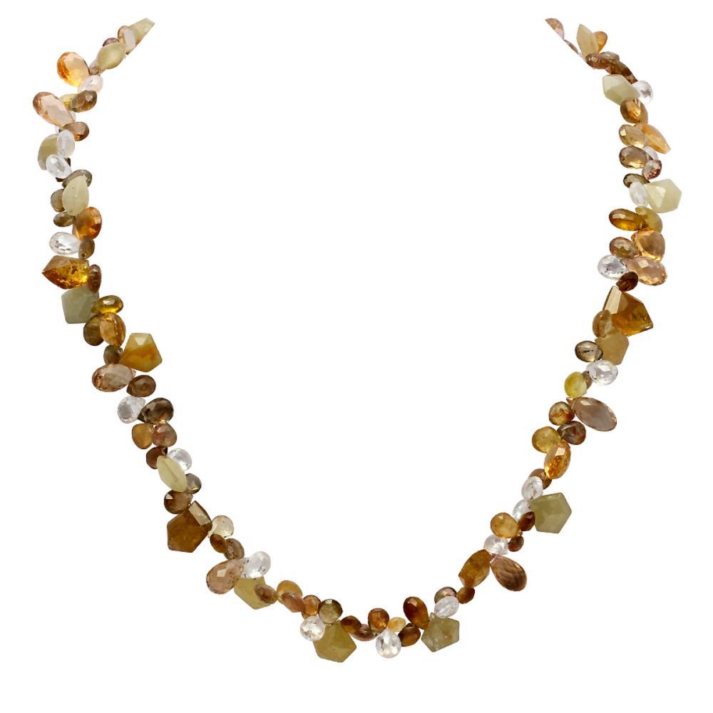 172.00ct Topaz One Strand Necklace